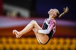 October 28, 2018 - Doha, Quatar - Victoria Kajoe of Denmark   during  Floor qualification at the Aspire Dome in Doha, Qatar, Artistic FIG Gymnastics World Championships on 28 of October 2018. (Credit Image: © Ulrik Pedersen/NurPhoto via ZUMA Press)