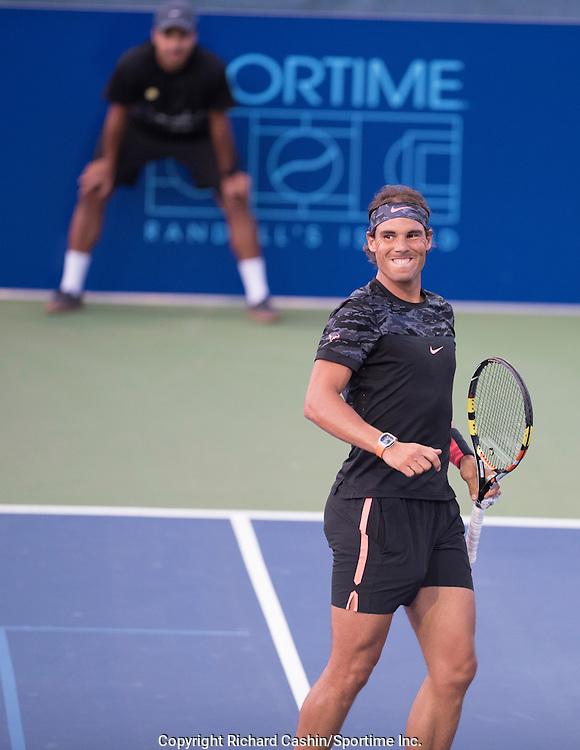 August 26, 2015; Rafa Nadal vs Lleyton Hewitt.<br /> Johnny Mac Tennis Project Benefit Night at Sportime Randall's Island, New York