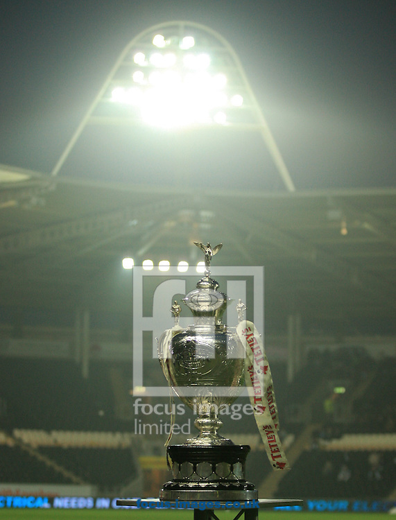 The challenge Cup before KO during the Tetley's Challenge Cup match at the KC Stadium, Kingston upon Hull<br /> Picture by Richard Gould/Focus Images Ltd +44 7855 403186<br /> 03/04/2014