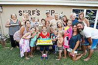 25 July 2015:  Berg and Benshoof family in Glendora, CA.  Surprise 70th Birthday celebration for Marnie Berg.