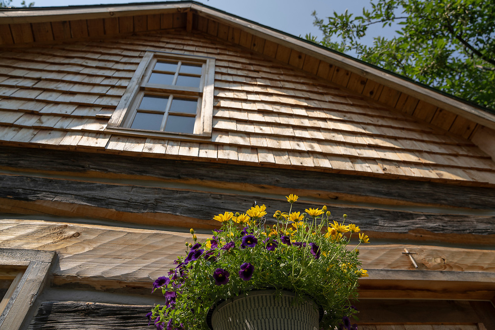 Historic cabin at Burns Landing in Big Bay, Michigan.
