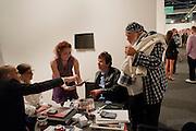 MAX WIGRAM; NAN BUSH; BRUCE WEBER, Vernissage. Opening of Art Basel Miami Beach. Convention Centre.  Miami Beach. 30 November 2010. -DO NOT ARCHIVE-© Copyright Photograph by Dafydd Jones. 248 Clapham Rd. London SW9 0PZ. Tel 0207 820 0771. www.dafjones.com.