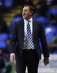 Wigan Athletic Manager, Malky Mackay on the side line at the Madejski Stadium during Sky Bet Championship clash with Reading - Photo mandatory by-line: Paul Knight/JMP - Mobile: 07966 386802 - 17/02/2015 - SPORT - Football - Reading - Madejski Stadium - Reading v Wigan Athletic - Sky Bet Championship