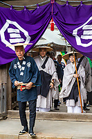 """Yugyoji Temple in Fujisawa  is officially called Shojiko-ji Temple, but is much more commonly known as Yugyo-ji located in Fujisawa City near Kamakura. <br /> Yugyoji has been named as one of the """"100 Most Scenic Places in Japan"""" and also has an important historic and religious significance.  It is the headquarters of the Ji Sect, an offshoot of Pure Land Buddhism which has over 400 temples and 350,000 followers.  The temple was founded by Priest Ippen in the 1200's, during the Kamakura Period. The main hall of the temple is a massive, beautiful building with an ornate interior and prayer area that visitors can access.  Beyond it is a beautiful and tranquil garden, filled with statues, a koi pond, and beautiful landscaping of the traditional Japanese style including a Japanese dry karesansui rock garden.  Yogyoji has many events and festivals in part due to its long and imporatnt history, and has become a sort of community center for Fujisawa holding flea markets and hosting ceremonies throughouy the year."""