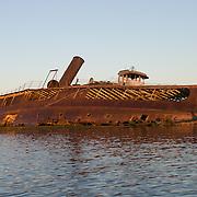 Steam Ferry New Bedford, Boatyard April 9, 2005