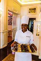Afternoon tea in the lounge, Belmond Mount Nelson Hotel, Cape Town, South Africa.