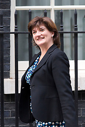 © Licensed to London News Pictures. 07/10/2013. London, UK. Conservative MP Nicky Morgan, the new Economics Secretary to the Treasury, is seen on Downing Street in London today (07/10/2013) during a ministerial shuffle. Photo credit: Matt Cetti-Roberts/LNP