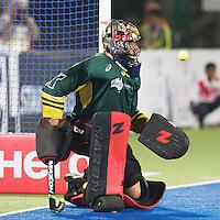 RAIPUR (India) . goalie Andrew Charter (Aus) stppes a penalystroke . .Hockey World League Final  men . AUSTRALIA v GERMANY.   © Koen Suyk/Treebypictures/WSP