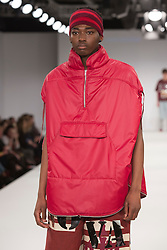 © Licensed to London News Pictures. 31/05/2015. London, UK. Collection by Annie Bostock. Fashion show of UCA Epsom at Graduate Fashion Week 2015. Graduate Fashion Week takes place from 30 May to 2 June 2015 at the Old Truman Brewery, Brick Lane. Photo credit : Bettina Strenske/LNP
