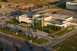Aerial view of MD Anderson Proton Therapy Center in the Texas Medical Center in Houston.