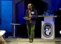 UTRECHT - Marlon Kicken , A tribe called Golf, de kracht van de connectie. Nationaal Golf Congres van de NVG 2014 , Nederlandse Vereniging Golfbranche. COPYRIGHT KOEN SUYK