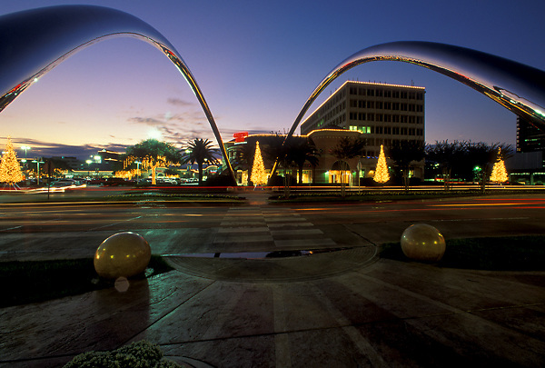 Stock photo of Christmas lights along Post Oak Boulevard in the Galleria Area