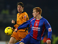 Photo: Chris Ratcliffe.<br />Crystal Palace v Wolverhampton Wanderers. Coca Cola Championship. 10/12/2005.<br />Ben Watson (R) of Palace and Darren Anderton battle it out.