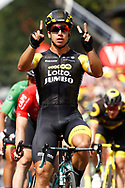 Arrival, Dylan Groenewegen (NED - Team LottoNL - Jumbo) winner, during the 105th Tour de France 2018, Stage 8, Dreux - Amiens Metropole (181km) on July 14th, 2018 - Photo Luca Bettini / BettiniPhoto / ProSportsImages / DPPI