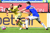 Rodrigo Palacio-Niklas Moisander<br /> Genova 04-10-2015 Stadio Marassi Football Calcio Serie A 2015/2016 Sampdoria Inter. Foto Matteo Gribaudi / Image Sport / Insidefoto