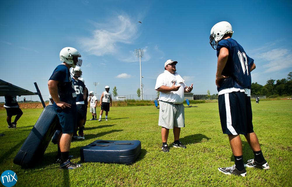 Hickory Ridge football practice Monday, July 30 at Hickory Ridge High School in Harrisburg. (photo by James Nix)