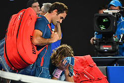 January 20, 2019 - Melbourne, AUSTRALIA - Stefanos Tsitsipas (Gre) wins agains Roger Federer  (Credit Image: © Panoramic via ZUMA Press)