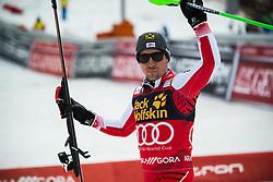 HIRSCHER Marcel of Austria celebrates during the Audi FIS Alpine Ski World Cup Men's Slalom 58th Vitranc Cup 2019 on March 10, 2019 in Podkoren, Kranjska Gora, Slovenia. Photo by Matic Ritonja / Sportida