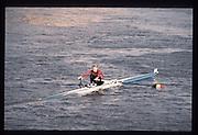 London. United Kingdom. Wim van BELLEGEM. 1990 Scullers Head of the River Race. River Thames, viewpoint Chiswick Bridge Saturday 07.04.1990<br /> <br /> [Mandatory Credit; Peter SPURRIER/Intersport Images] 19900407 Scullers Head, London Engl