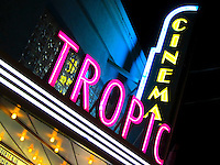 """Neon sign at the Tropic Cinema, Key West Florida, rated """"Best cinema in Florida"""""""