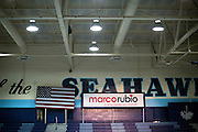 Republican presidential candidate Marco Rubio speaks to supporters during a campaign stop at the Hilton Head Island High School gym in Hilton Head Island, S.C., Saturday, Jan. 2, 2016. About 900 people came out to greet Rubio. (AP Photo/Stephen B. Morton)