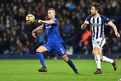 Everton's Morgan Schneiderlin (left) and West Bromwich Albion's Jay Rodriguez compete for the ball