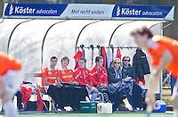 Bloemendaal- Dugout van sponsor Koster Advocaten. FOTO KOEN SUYK