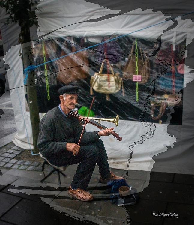 Musician in Tralee, Ireland