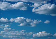 A blue sky with white clouds in Texas.