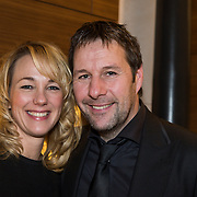 NLD/Amsterdam/20150202 - Presentatie sportblad Helden 25, Marianne Timmer en partner Henk Timmer