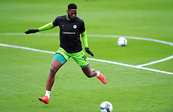 Jamille Matt of Forest Green Rovers warms up prior to kick-off- Mandatory by-line: Nizaam Jones/JMP - 17/10/2020 - FOOTBALL - innocent New Lawn Stadium - Nailsworth, England - Forest Green Rovers v Stevenage - Sky Bet League Two