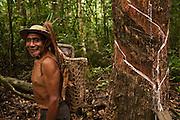 Balata rubber bleeder,<br /> Harry Samuel,<br /> Rupununi,<br /> Guyana, South America