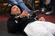 Houston, Texas - February 19, 2016: Royce Gracie waits backstage before his fight against Ken Shamrock during Bellator 149 at the Toyota Center in Houston, Texas on February 19, 2016. (Cooper Neill for ESPN)