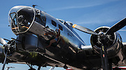 """Boeing B-17 Flying Fortress, """"Madras Maiden"""" at Erickson Aircraft Collection."""