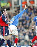 PORTSMOUTH 2 V SCUNTHORPE UNITED 1.     24.1.04. <br /> PORTSMOUTH'S GOALSCORER MATTHEW TAYLOR WHEELS AWAY AFTER SCORING THE WINNER AGAINST SCUNTHORPE IN THE F.A. CUP FOURTH ROUND MATCH AT FRATTON PARK.<br /> PIC BY HARRY HERD/SPORTSBEAT IMAGES