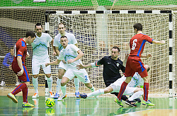Rok Mordej and Alen Mordej of Slovenia during futsal match between National Teams of Czech republic and Slovenia in Group 5 of UEFA Futsal EURO 2016 Qualifying Main Round, on March 21, 2015 in Arena Tri Lilije, Lasko, Slovenia. Photo by Vid Ponikvar