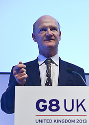 © Licensed to London News Pictures. 14/06/2013. London, UK David Willetts MP.  attends G8 Innovation Conference at the Siemens Crystal Building in London today 14th June 2013. As part of UK's G8 Presidency, the G8 Innovation Conference brings together 300 leading international entrepreneurs, researchers, scientists, designers and policy makers. Photo credit : Stephen Simpson/LNP