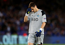 Iker Casillas of FC Porto looks dejected - Mandatory by-line: Matt McNulty/JMP - 27/09/2016 - FOOTBALL - King Power Stadium - Leicester, England - Leicester City v FC Porto - UEFA Champions League