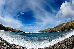Atlantic waves pound the pebble beach at Gearrannan, Isle of Lewis, Outer Hebrides, Scotland<br /> <br /> (c) Andrew Wilson | Edinburgh Elite media