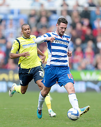 Reading's Sean Morrison passes back to goal - Photo mandatory by-line: Nigel Pitts-Drake/JMP - Tel: Mobile: 07966 386802 28/09/2013 - SPORT - FOOTBALL - Madejski Stadium - Reading - Reading V Birmingham City - Sky Bet Championship