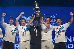 Ben Ainslie and his Team Origin crew celebrate winning the World Match Racing Tour at the Monsoon Cup 2010. World Match Racing Tour, Kuala Terengganu, Malaysia. 5 December 2010. Photo: Subzero Images/WMRT