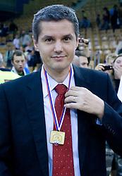 Assistant coach of Union Olimpija Zoran Martic at third finals basketball match of Slovenian Men UPC League between KK Union Olimpija and KK Helios Domzale, on June 2, 2009, in Arena Tivoli, Ljubljana, Slovenia. Union Olimpija won 69:58 and became Slovenian National Champion for the season 2008/2009. (Photo by Vid Ponikvar / Sportida)