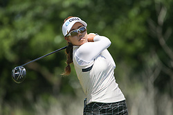 May 6, 2018 - The Colony, TX, U.S. - THE COLONY, TX - MAY 06: Jenny Shin (KOR) hits from the 4th tee during the Volunteers of America LPGA Texas Classic on May 6, 2018 at the Old American Golf Club in The Colony, TX. (Photo by George Walker/Icon Sportswire) (Credit Image: © George Walker/Icon SMI via ZUMA Press)