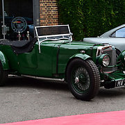 Aston Martin classic display at the 2018 Grand Prix Ball held at The Hurlingham Club on July 4, 2018 in London, England.