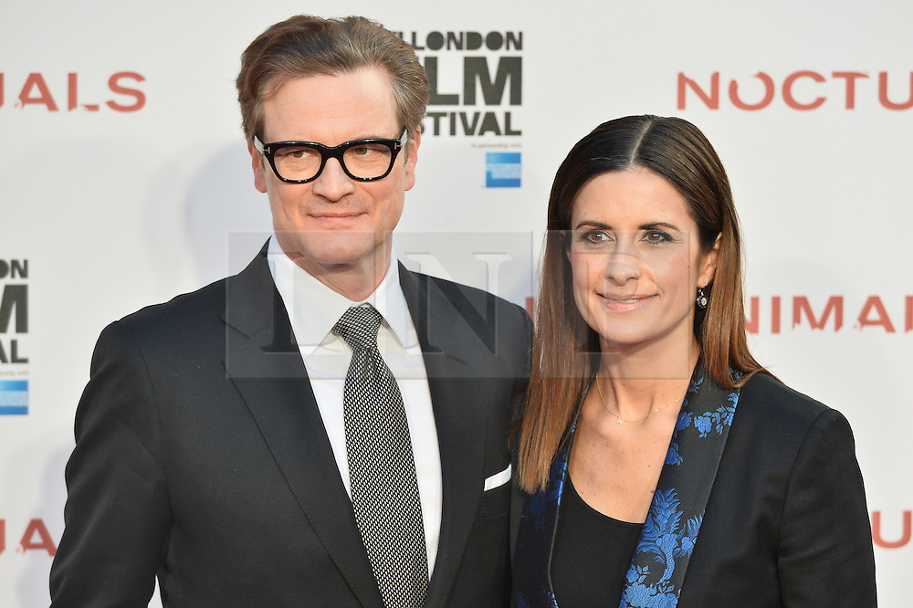© Licensed to London News Pictures. 14/10/2016.  COLIN FIRTH and LIVIA FIRTH attend the Nocturnal Animals film premiere of as part of the London Film Festival. London, UK. Photo credit: Ray Tang/LNP