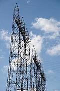 Nederland, Nijmegen, 11-9-2013Hoogspanningsmast met stroomkabels.Foto: Flip Franssen/Hollandse Hoogte