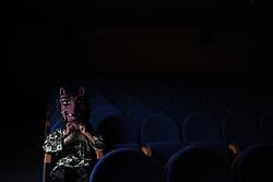 September 1, 2017 - AlmazáN, Soria, Spain - A costumed figure 'Cabezudo' (Big head) pictured during the 'La Bajada de Jesús' festival in Almazán, north of Spain. (Credit Image: © Jorge Sanz/Pacific Press via ZUMA Wire)
