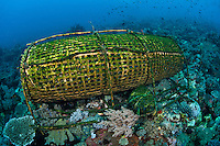 Hand Made Fish Trap, typically used in the Alor region.<br /> <br /> Shot in Indonesia