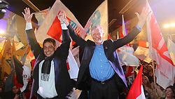 José Fortunati e Sebastião Melo durante lançamento do comitê central. FOTO: Jefferson Bernardes / Preview.com