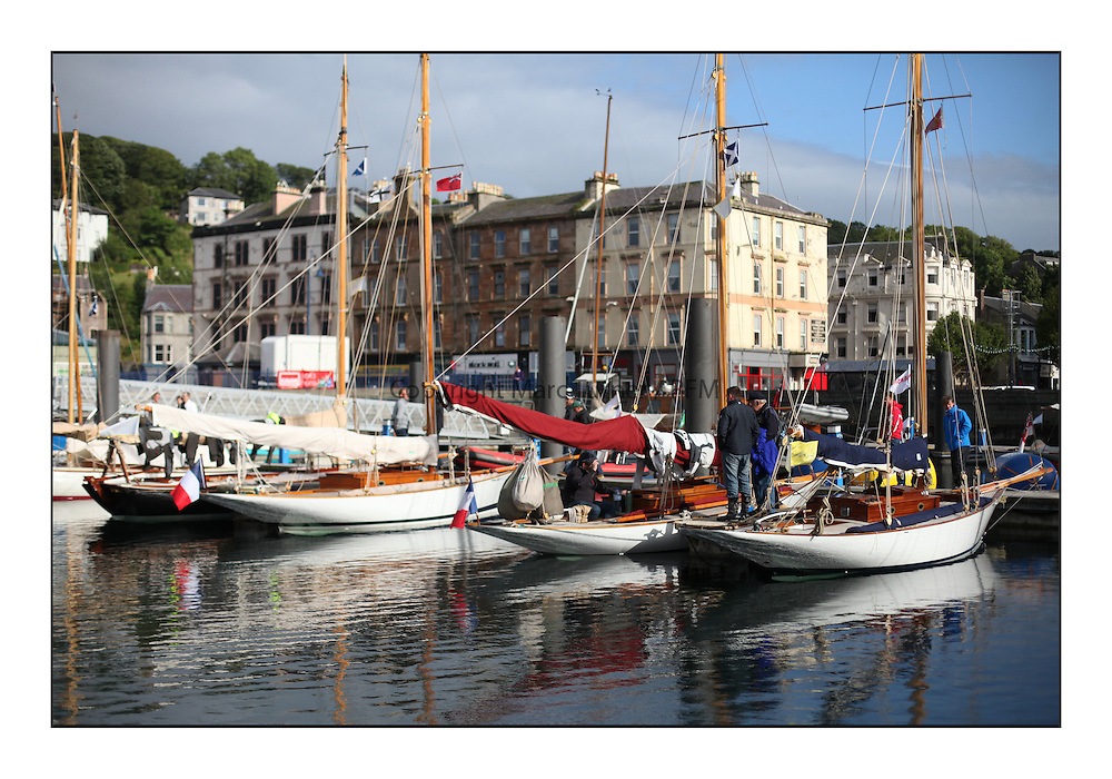 Day three of the Fife Regatta, Cruise up the Kyles of Bute to Tighnabruaich<br /> <br /> Rothesay Dock<br /> <br /> * The William Fife designed Yachts return to the birthplace of these historic yachts, the Scotland's pre-eminent yacht designer and builder for the 4th Fife Regatta on the Clyde 28th June–5th July 2013<br /> <br /> More information is available on the website: www.fiferegatta.com